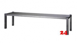 AfG Aufsatzbord 1-etagig zur Montage auf Tischplatten (B1300xT400) AB134 verschweißte Ausführung
