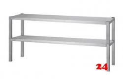 AfG Aufsatzbord 2-etagig zur Montage auf Tischplatten (B1500xT300) AB2153 verschweißte Ausführung