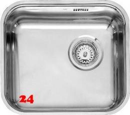 REGINOX Küchenspüle R18 4035 OKG Einbauspüle Edelstahl mit Einbaurand Siebkorb als Stopfenventil
