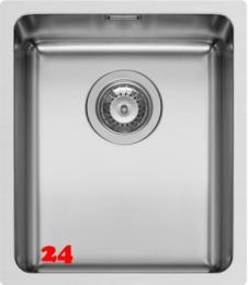 PYRAMIS Küchenspüle Lydia (34x40) 1B Einbauspüle Flachrand / Flächenbündig Siebkorb als Stopfen- oder Drehknopfventil