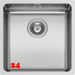 PYRAMIS Küchenspüle Lydia (40x40) 1B Einbauspüle Flachrand / Flächenbündig Siebkorb als Stopfen- oder Drehknopfventil