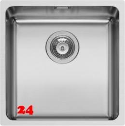 PYRAMIS Küchenspüle Lydia (40x40) 1B Unterbauspüle mit Siebkorb als Stopfen- oder Drehknopfventil