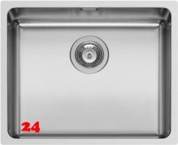 PYRAMIS Küchenspüle Lydia (50x40) 1B Unterbauspüle mit Siebkorb als Stopfen- oder Drehknopfventil