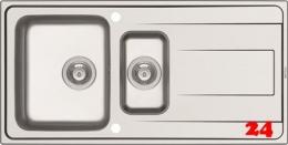 PYRAMIS Küchenspüle Alea (100x50) 1 1/2B 1D Einbauspüle / Edelstahlspüle Siebkorb als Drehknopfventil