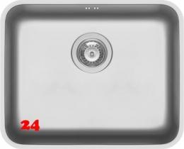 PYRAMIS Küchenspüle Relia (50x40) 1B Unterbauspüle mit Siebkorb als Stopfenventil