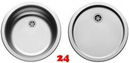 PYRAMIS Küchenspüle Spülenset CR/CT (Ø38,5x15) Einbauspüle / Edelstahlspüle Ablauf mit Gummistopfen 1 1/2