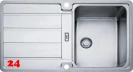 FRANKE Küchenspüle Hydros HDX 214 Einbauspüle Slimtop / Flächenbündig mit Druckknopfventil