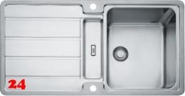 FRANKE Küchenspüle Hydros HDX 284 Einbauspüle Slimtop / Flächenbündig mit Druckknopfventil