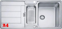 FRANKE Küchenspüle Hydros HDX 254 Einbauspüle Slimtop / Flächenbündig mit Druckknopfventil