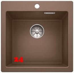 BLANCO Küchenspüle Pleon 5 Silgranit® PuraDur®II Granitspüle / Einbauspüle Ablaufsystem InFino mit Drehknopfventil