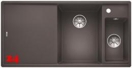 BLANCO Axia III 6 S-F GSB Silgranit® PuraDur®II Granitspüle Flächenbündig Ablaufsystem InFino mit Drehknopfventil