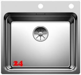 BLANCO Küchenspüle Etagon 500-IF/A Edelstahlspüle / Einbauspüle Flachrand mit Ablaufsystem InFino und Zugknopf