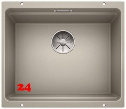 BLANCO Küchenspüle Etagon 500-U Silgranit® PuraDur®II Granitspüle / Unterbaubecken Ablaufsystem InFino mit Handbetätigung