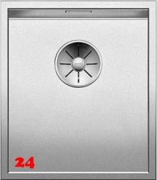 BLANCO Küchenspüle Zerox 340-U Durinox® Edelstahlspüle / Unterbauspüle mit Ablaufsystem InFino und Handbetätigung