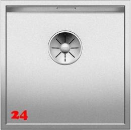 BLANCO Küchenspüle Zerox 400-U Durinox® Edelstahlspüle / Unterbauspüle mit Ablaufsystem InFino und Handbetätigung