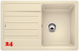 BLANCO Küchenspüle Legra 45 S Silgranit® PuraDur®II Granitspüle / Einbauspüle mit Handbetätigung in 6 Farben