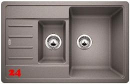 BLANCO Küchenspüle Legra 6 S Compact Silgranit® PuraDur®II Granitspüle / Einbauspüle mit Handbetätigung in 6 Farben