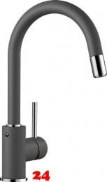 BLANCO Küchenarmatur Mida-S Silgranit®-Look Einhebelmischer mit Zugauslauf 360° schwenkbarer Auslauf in 9 Farben