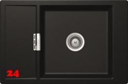 SCHOCK Küchenspüle Mono D-100XS Cristadur® Nano-Granitspüle / Einbauspüle in 9 Farben mit Holzschneidbrett Bambus