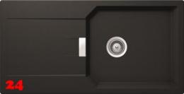 x SCHOCK Küchenspüle Manhattan D-100L Cristalite® Granitspüle / Einbauspüle Basic Line in 4 Farben mit Drehexcenter