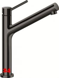 SCHOCK Küchenarmatur Dion Gunmetal Einhebelmischer Oberfläche: Schwarz glänzend mit Festauslauf