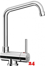 SCHOCK Küchenarmatur Maia-UF Chrom Einhebelmischer mit Festauslauf 360° schwenkbarer Auslauf Vorfenstermontage