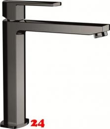 SCHOCK Küchenarmatur Neilos Gunmetal Einhebelmischer Oberfläche: Schwarz glänzend mit Festauslauf