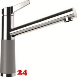 SCHOCK Küchenarmatur SC-510 Cristalite® Basic Line Einhebelmischer Festauslauf 360° schwenkbarer Auslauf mit Materialhülse in 4 Farben