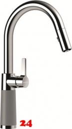 SCHOCK Küchenarmatur SC-520 Cristalite® Basic Line Einhebelmischer Zugauslauf 120° schwenkbarer Auslauf mit Materialhülse und Schlauchbrause in 4 Farben
