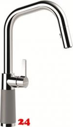 SCHOCK Küchenarmatur SC-530 Cristalite® Basic Line Einhebelmischer Zugauslauf 120° schwenkbarer Auslauf mit Materialhülse und Schlauchbrause in 4 Farben