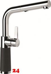 SCHOCK Küchenarmatur SC-540 Cristalite® Basic Line Einhebelmischer Zugauslauf 120° schwenkbarer Auslauf mit Materialhülse und Schlauchbrause in 4 Farben