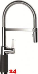 SCHOCK Küchenarmatur SC-550 Cristalite® Basic Line Einhebelmischer Festauslauf 150° schwenkbarer Auslauf mit Materialhülse und Pendelbrause in 4 Farben
