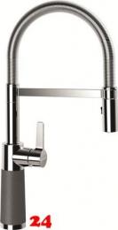 SCHOCK Küchenarmatur SC-550 Cristadur® Classic Line Einhebelmischer Festauslauf 150° schwenkbarer Auslauf mit Materialhülse und Pendelbrause in 9 Farben