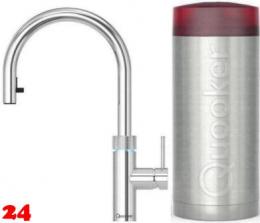 {LAGER} QUOOKER FLEX Combi(+) Einhebelmischer Zugauslauf Chrom & 100°C Armatur Kochendwasserhahn (22+XCHR)