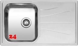 REGINOX Küchenspüle Diplomat 10 ECO OKG Einbauspüle Edelstahl mit Einbaurand Siebkorb als Stopfenventil