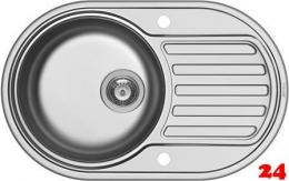 PYRAMIS Küchenspüle SR Mini Einbauspüle / Edelstahlspüle Siebkorb als Drehknopfventil