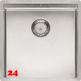 REGINOX New York 40x40-FL Einbauspüle Edelstahl 3 in 1 mit Flachrand Siebkorb als Stopfenventil