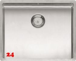 REGINOX Küchenspüle New York 50x40 (L) Comfort Einbauspüle Edelstahl 3 in 1 mit Flachrand Siebkorb als Stopfenventil