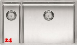 REGINOX New York 18x40/50x40-FL-BR Einbauspüle 3 in 1 mit Flachrand Siebkorb als Stopfenventil