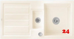 Villeroy & Boch FLAVIA 60-Classicline Einbauspüle / Keramikspüle in 9 Standard Farben