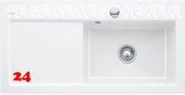 Villeroy & Boch SUBWAY 60 XL KT-Trendline Einbauspüle / Keramikspüle im Dekor White Pearl