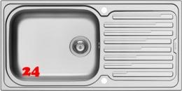 PYRAMIS Küchenspüle Amaltia Plus (100x50) 1B 1D Einbauspüle / Edelstahlspüle Siebkorb als Drehknopfventil