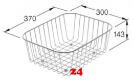 Villeroy&Boch CISTERNA 45 Geschirrkorb 985000K1