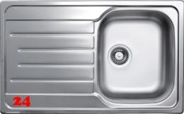 {Lager} BERNUS Canos 45 Edelstahlspüle / Küchenspüle Siebkorb als Stopfen- oder Drehknopfventil