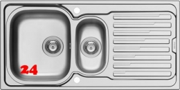 PYRAMIS Küchenspüle Amaltia (100x50) 1 1/2 B 1 D Einbauspüle / Edelstahlspüle Siebkorb als Drehknopfventil