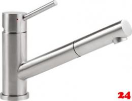 Villeroy & Boch Küchenarmatur Como Shower-ND Einhebelmischer Edelstahl mit Zugauslauf Niederdruck