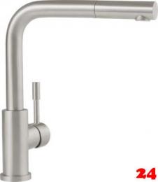 Villeroy & Boch Küchenarmatur Steel Shower-ND Einhebelmischer Edelstahl mit Zugauslauf Niederdruck