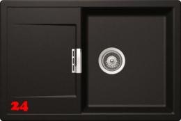 SCHOCK Küchenspüle Mono D-100-FB Cristadur® Nano-Granitspüle flächenbündig in 4 Farben mit Drehexcenter