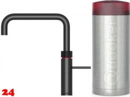 QUOOKER FUSION Square Combi Einhebelmischer Schwarz & 100°C Armatur Kochendwasserhahn (22FSBLK)