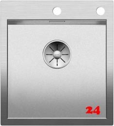 BLANCO Küchenspüle Zerox 400-IF/A Durinox® Edelstahlspüle Flachrand mit Ablaufsystem InFino und PushControl
